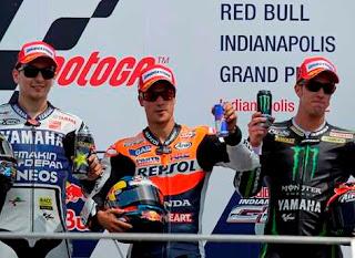 MOTO GP-Triplete español en Indianápolis