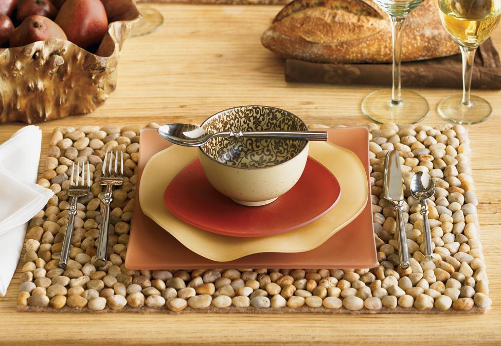 mesa de jardim jumbo : mesa de jardim jumbo:Gurias de Ideias: DIY – Jogo americano feito com pedras de jardim