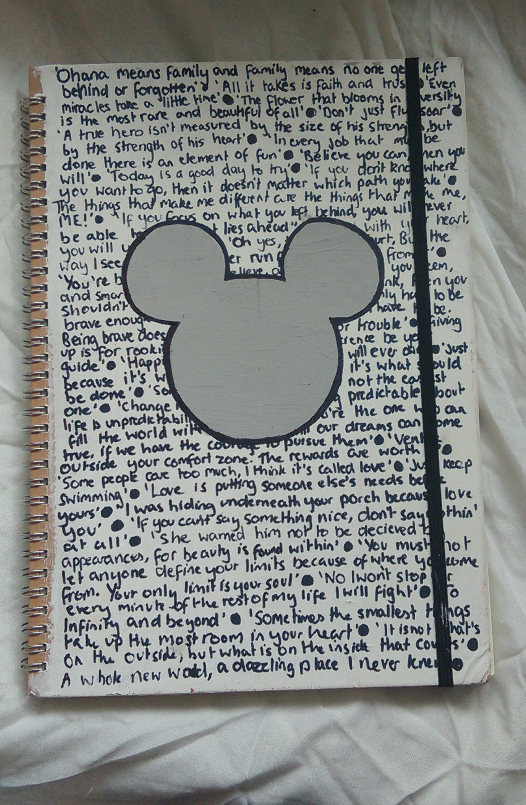 Simple Book Cover Quote ~ Katie hopkinson diy quote notebook