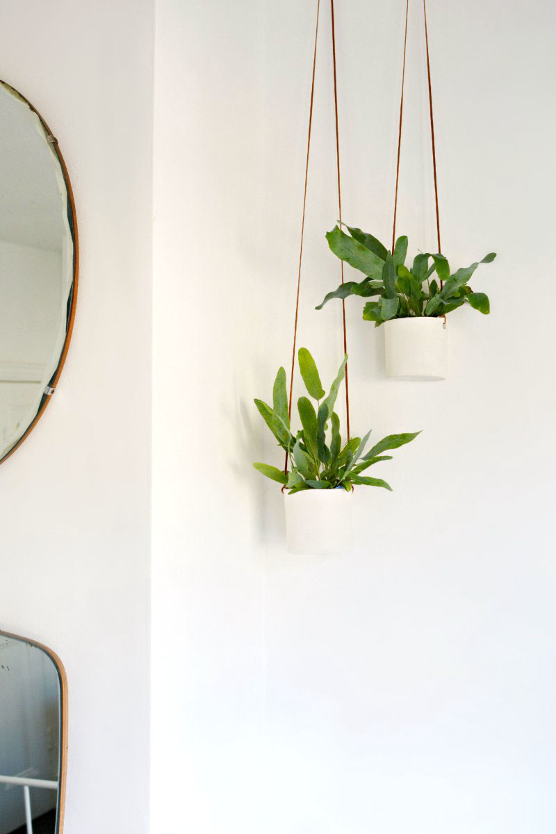 Diy Leather And Clay Hanging Planters Burkatron