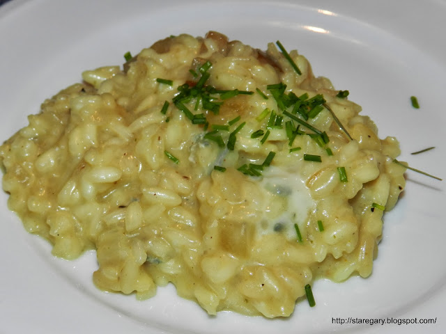 Rizotto z gruszką i serem Gorgonzola czyli Risotto alle pere e gorgonzola