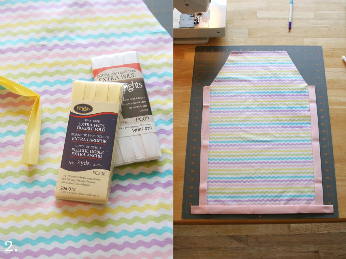 White apron tape - Easy Sew Kid Aprons