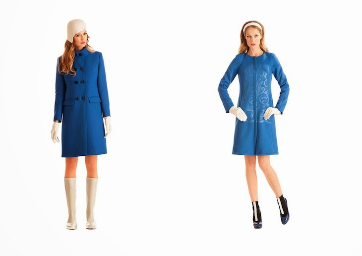 1One fashion dresses collection made in italy, tailleur cappotti sartoriali tagli geometrici, outfit abito manica lunga elegante ufficio anni '60, Isabella Julio, amanda marzolini the fashionamy blog,