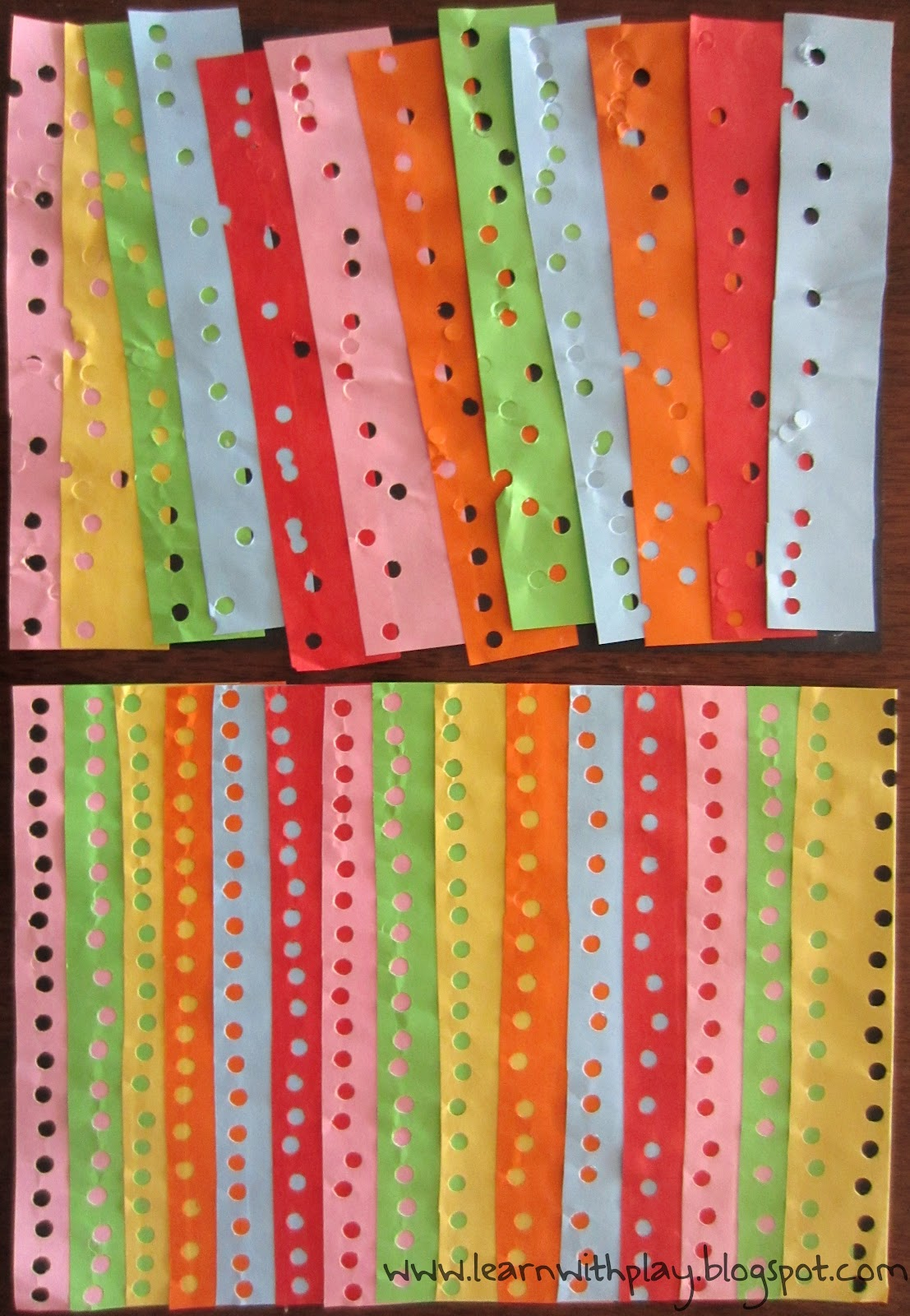 Learn with play at home hole punch art for Craft hole punch set