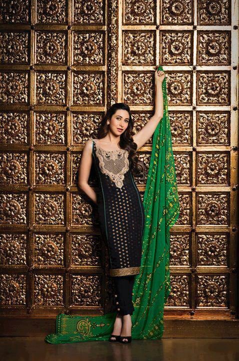 Krishma Kapoor Latest fashion dress by Crescent Faraz Manan