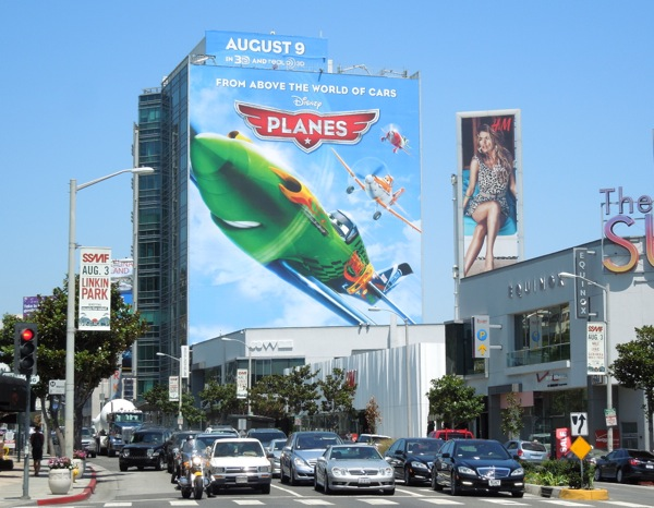 Giant Disney Planes movie billboard