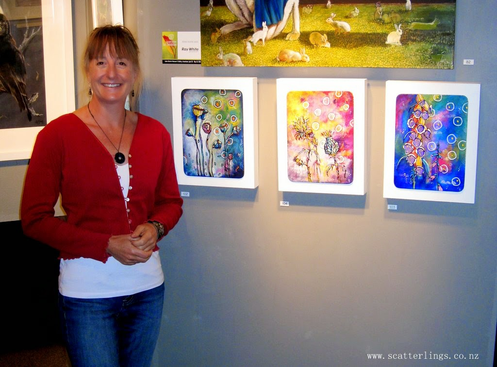 """In My Backyard"" series of paintings by Wanaka artist Renee Walden"