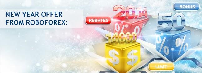 RoboForex Chào Mừng Năm Mới Lên Tới +50% Bonus, +20.14% Rebates