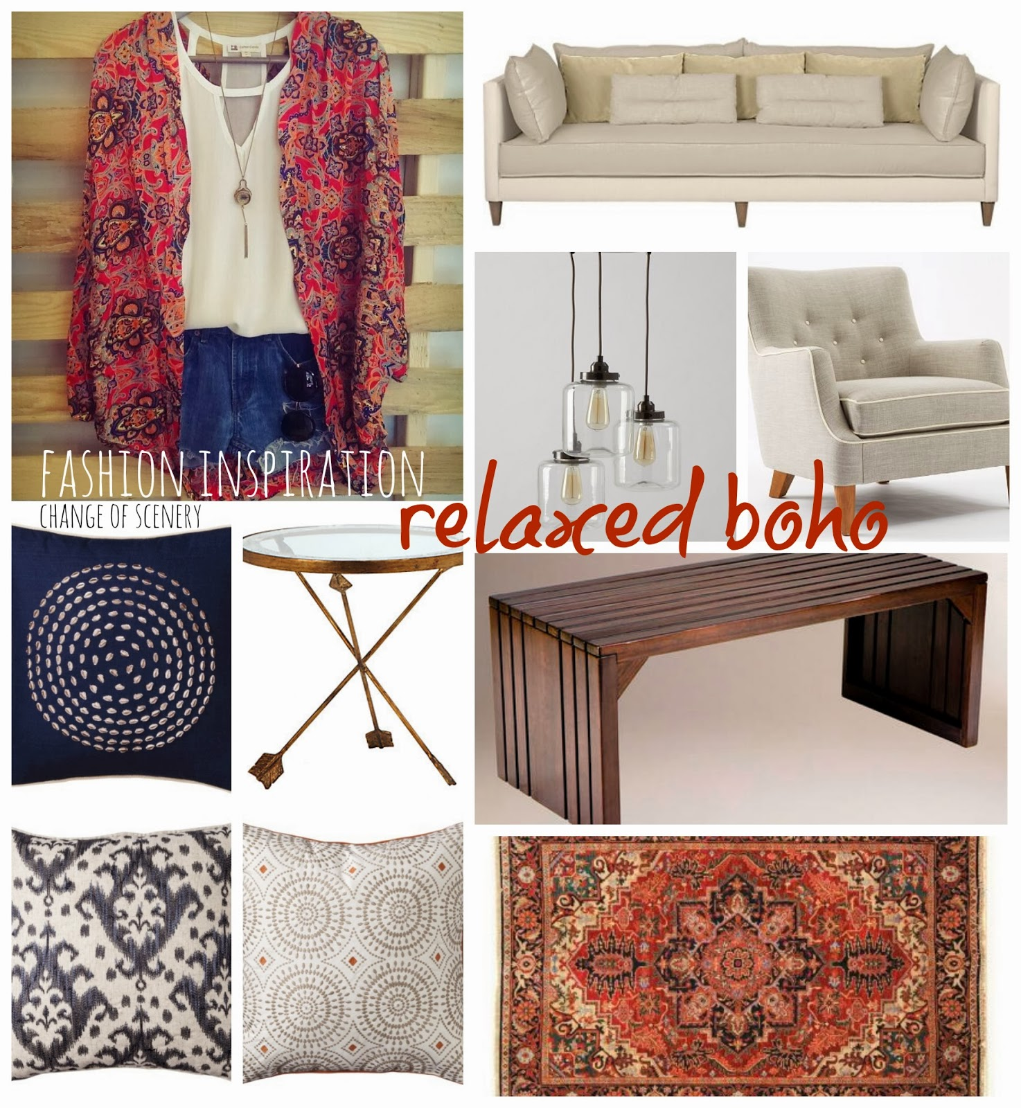 change of scenery fashion inspiration relaxed boho living room