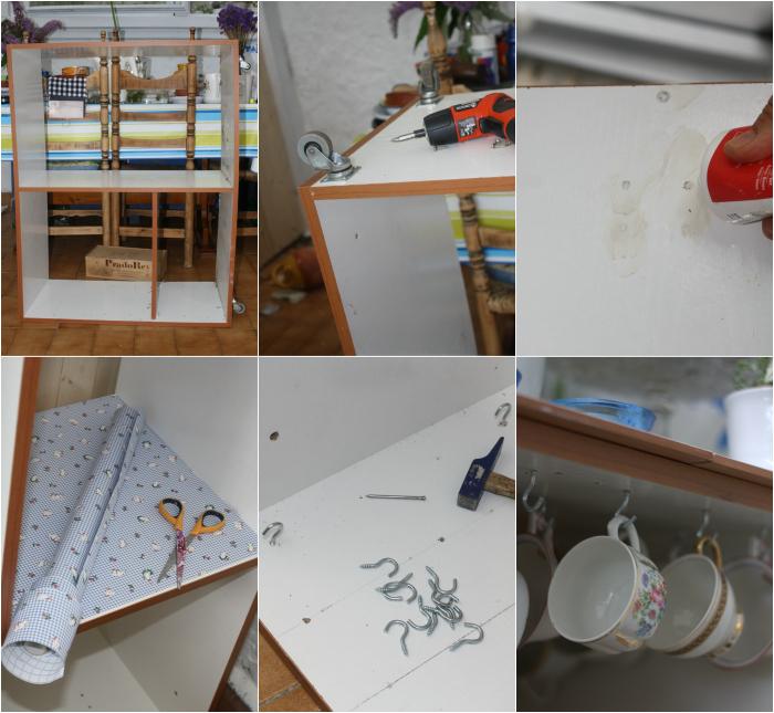 Mueble de cocina reciclado diogeneras el nido de mam - Como forrar muebles de cocina ...