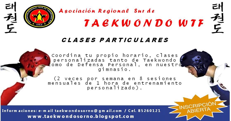 SOMOS TAEKWONDOSORNO: CLASES PARTICULARES TAEKWONDO Y DEFENSA PERSONAL