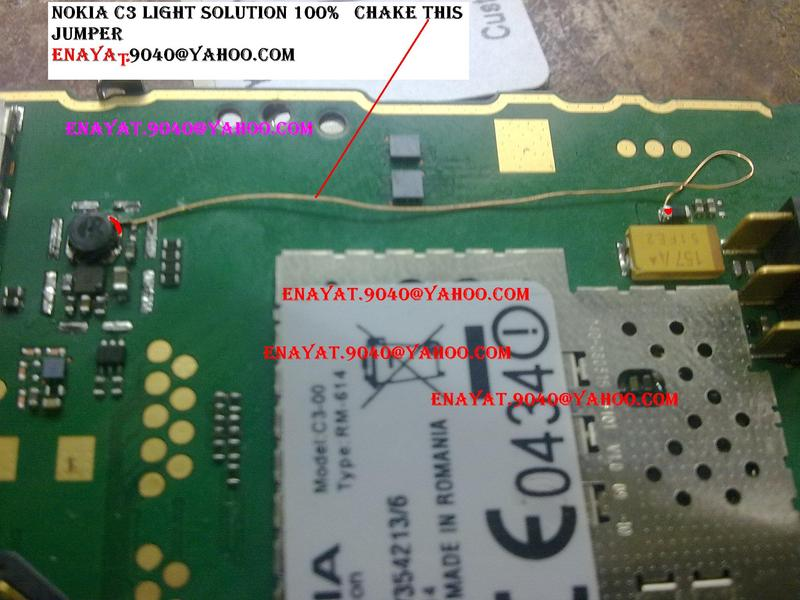 Nokia c3 lcd light jumper