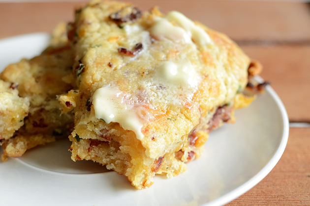 My Favorite Things: Bacon, Cheddar and Chive Scones from Tasty Kitchen