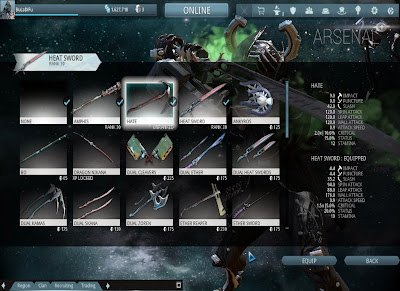 Warframe - Switching Melee Weapons