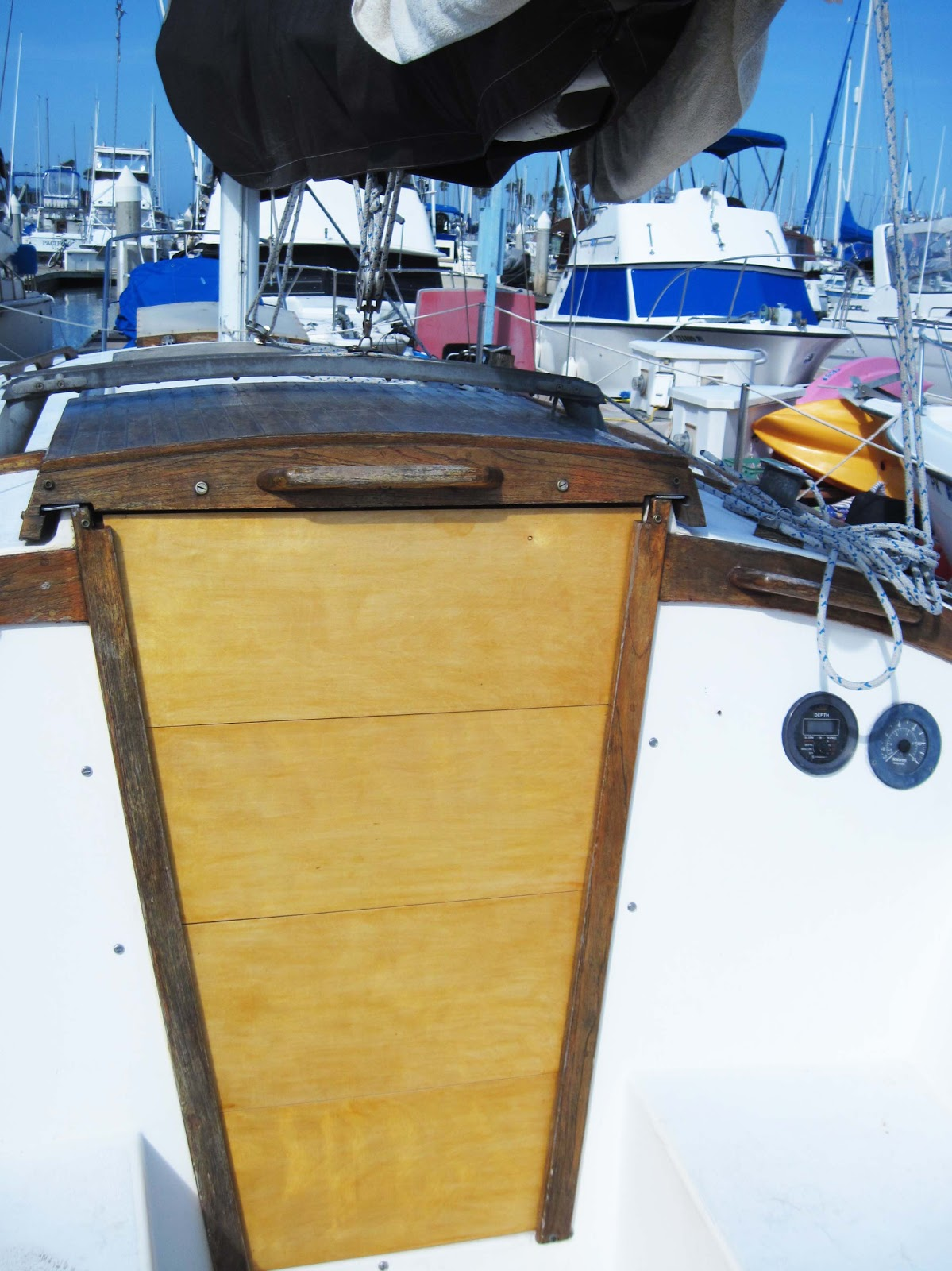sailboat companionway doors & Captain Curranu0027s sailing blog: How to build sailboat companionway doors.