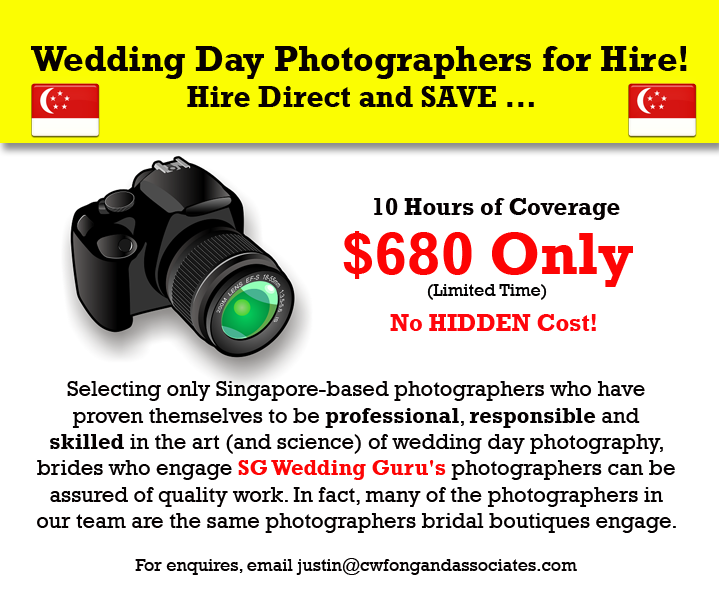 Best Wedding Day Photography Package in Singapore