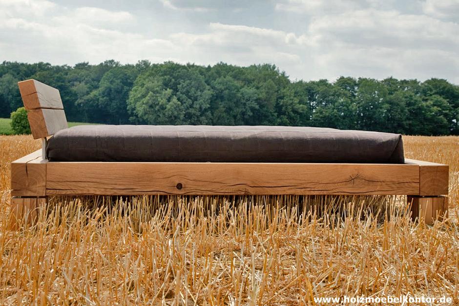 Wohnkantine - Wohnideen vom Holzmöbelkontor : Balken Bett