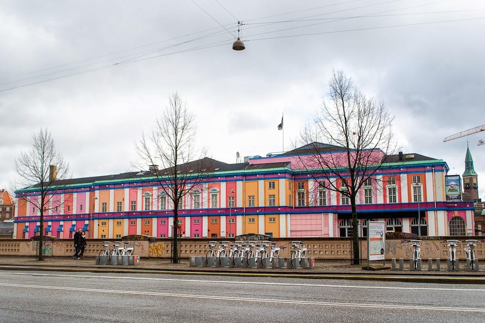 colourful train station in copenhagen