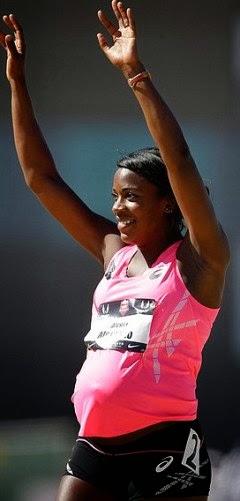 8 months pregnant, Olympian runs elite 800M race