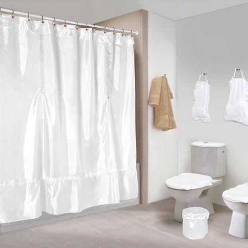 Artesanatos Da Bel Cortinas Para Banheiro Um Luxoooo