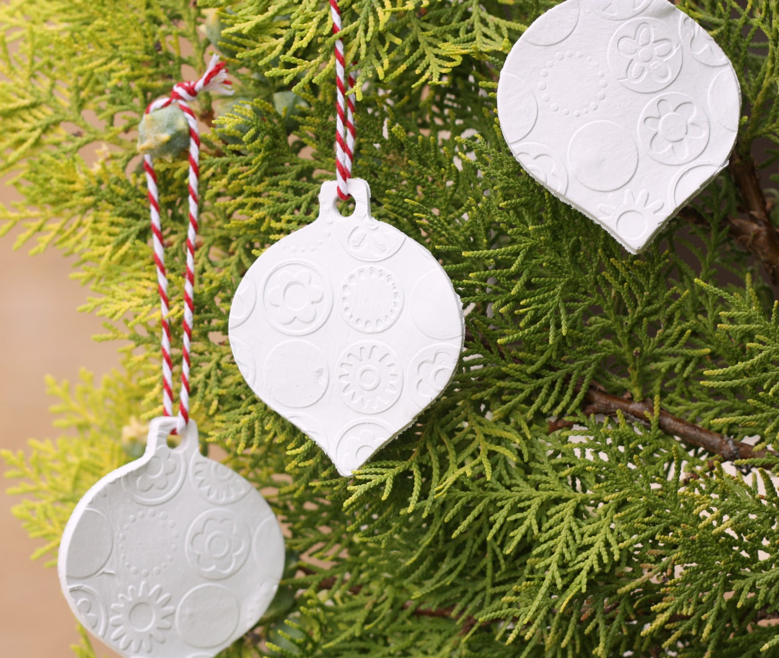 Christmas Decorations Made From Clay : Clay ornaments a spoonful of sugar