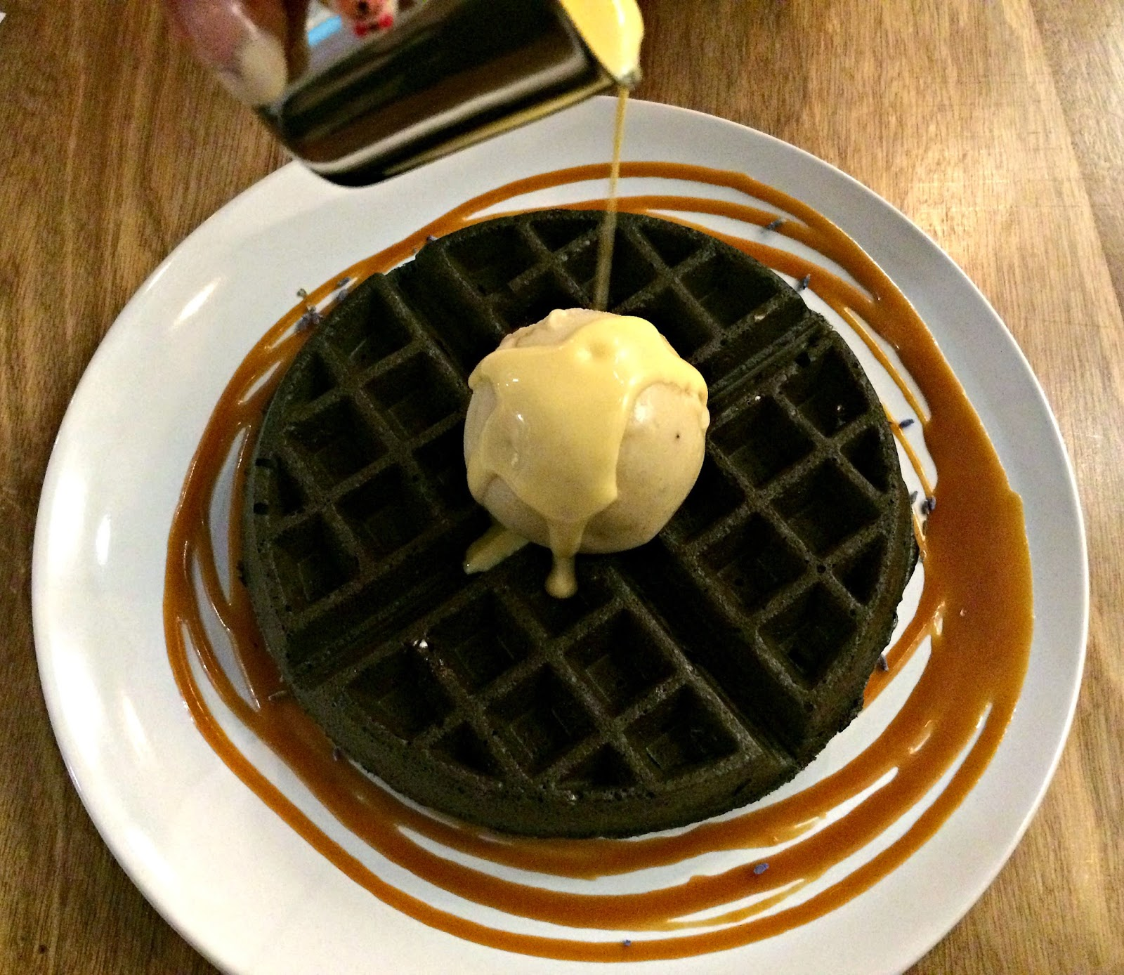 Gourmet Waffles & Banana Caramel Ice Cream