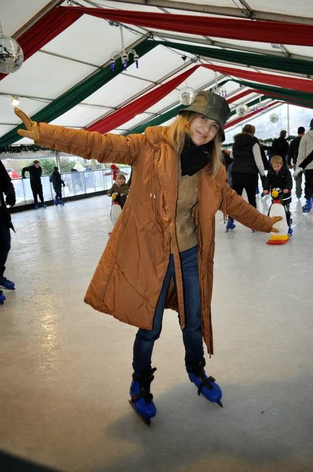 Ice Skating Windsor How to wear feather coat