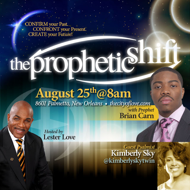"Prophet Brian Carn with Lester Love at ""The Prophetic Shift"""