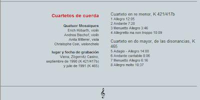 Mozart - Col. El País 250 Aniversario-(2006)-4-Cuartetos de cuerda-contenido