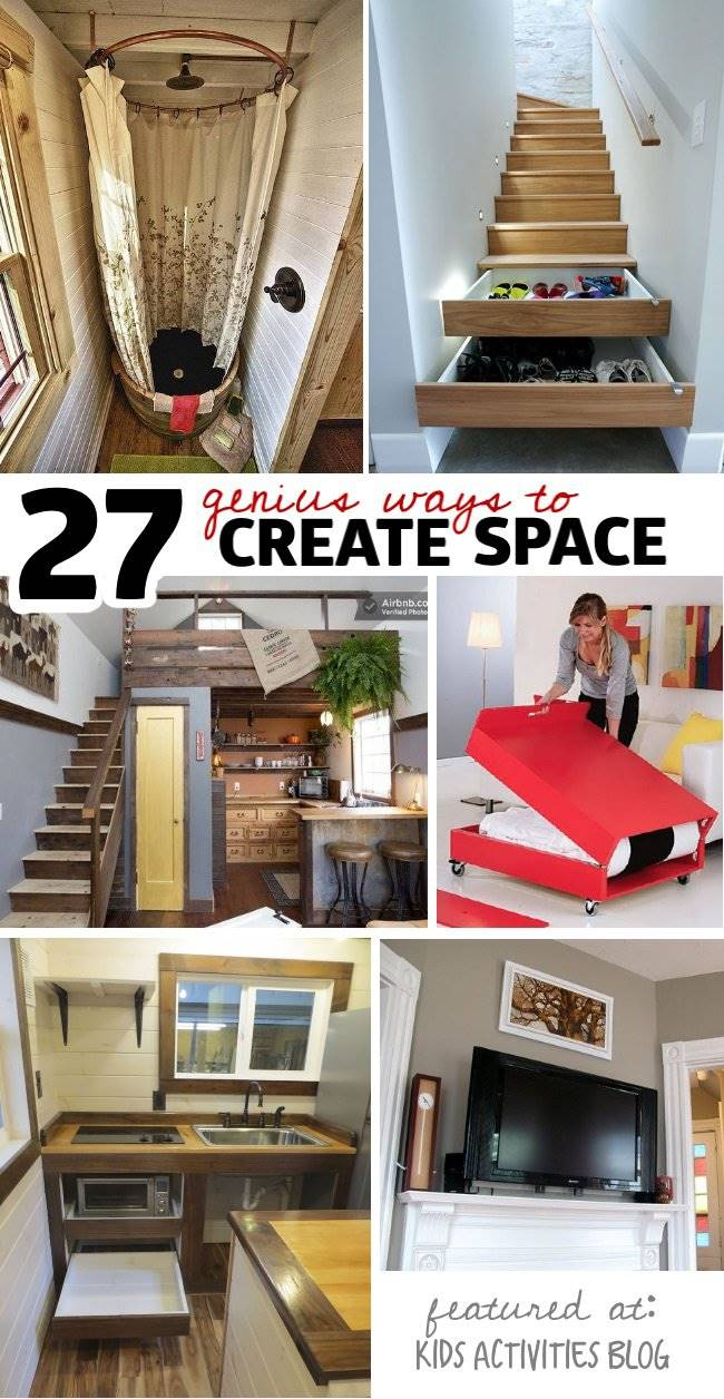 27 genius small space organization ideas handy diy - Small house organization tips ...