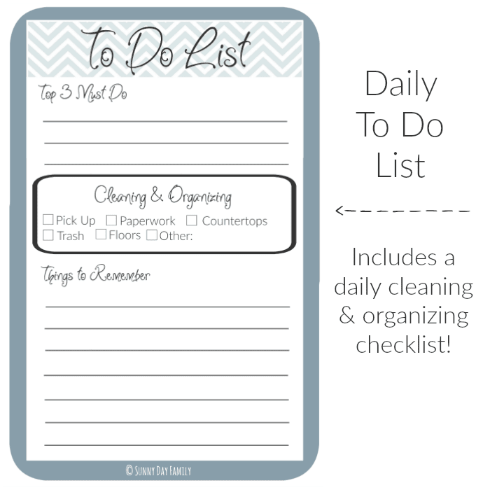 Free Printable Organizer – Free Printable Daily to Do List Template