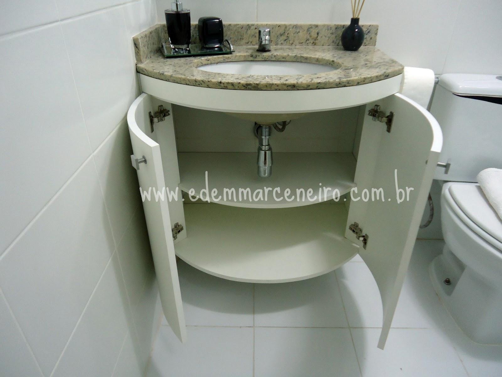 Armário para bancada em curva Edem Marceneiro #373C2B 1600x1200 Armario Banheiro Com Tulha