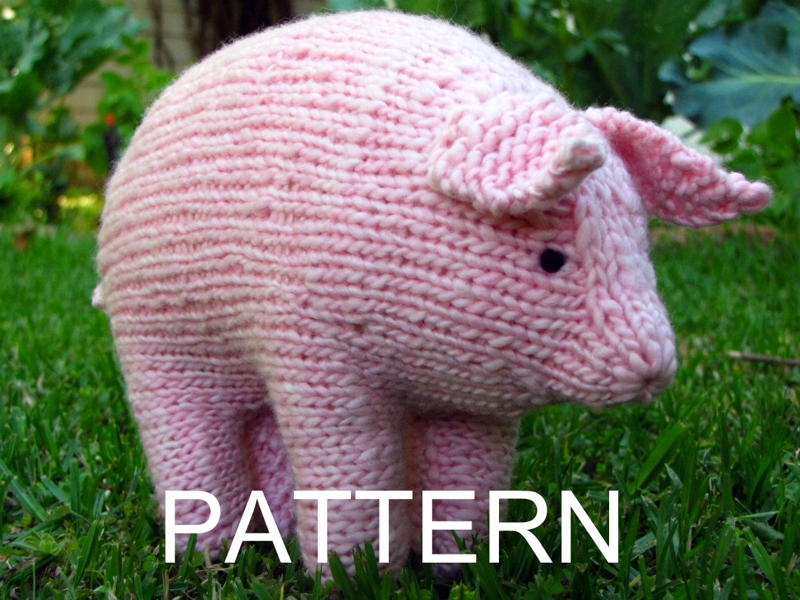 Pig Knitting Pattern and a Giveaway - Natural Suburbia