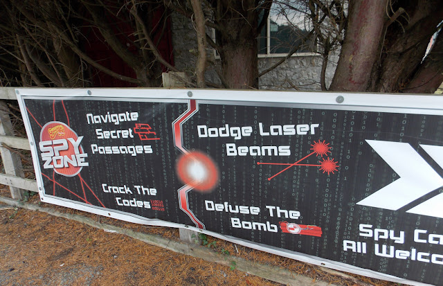 spy zone banner matlock bath attraction