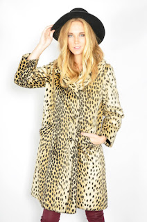 Vintage 1960's leopard print faux fur coat