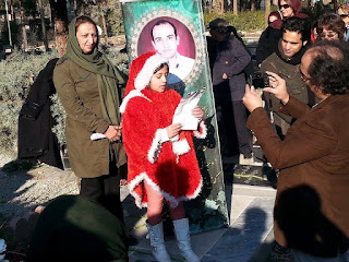 Mothers of Iranian martyrs and political prisoners joined Karim Beigi family on December 27,