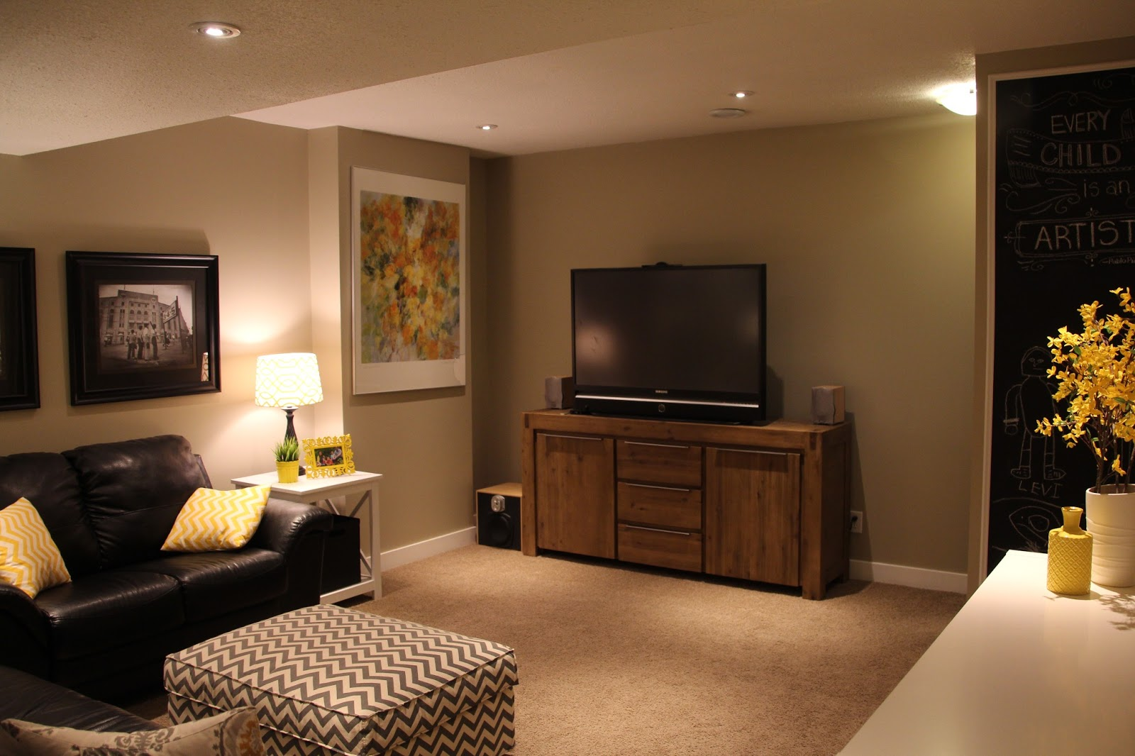 The Bollmans Before Amp After The Basement Tv Room