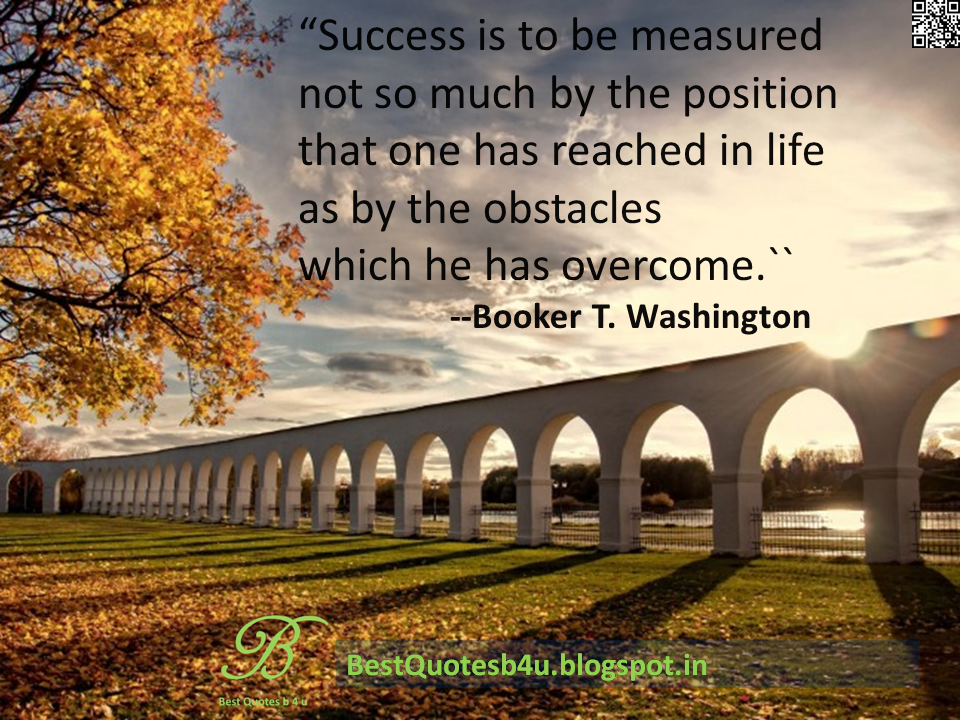 Best English Success Quotes With Beautiful Images and HD Wall papers by Booker T.Washington