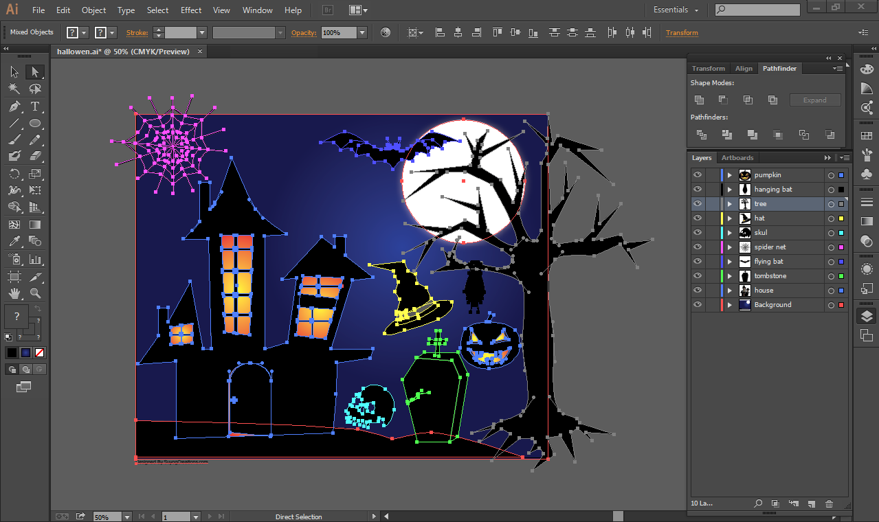 Halloween Vectors Psd and Ai File for Free Download