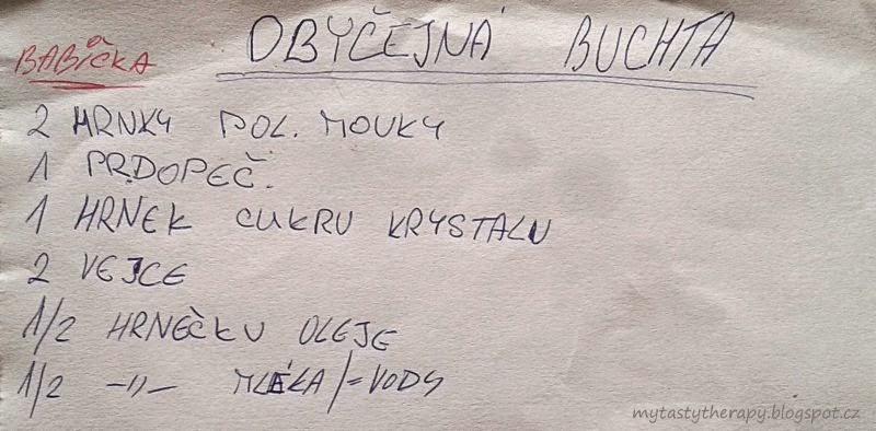 Neobyčejná buchta - recept