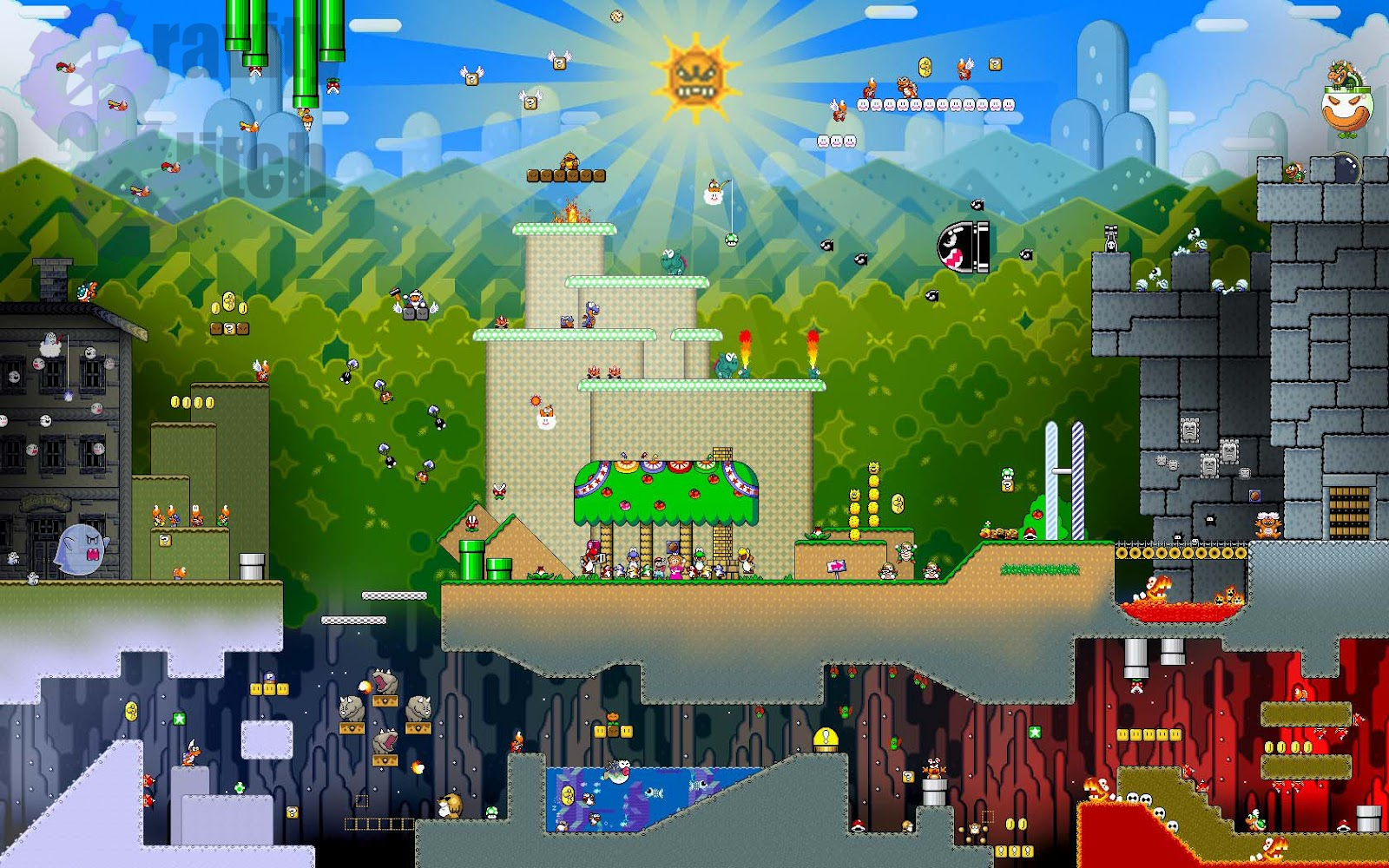 Video game gallery wallpaper avatars more super mario world map level classic wallpaper background super nintendo nes system img image picture pic gumiabroncs Gallery