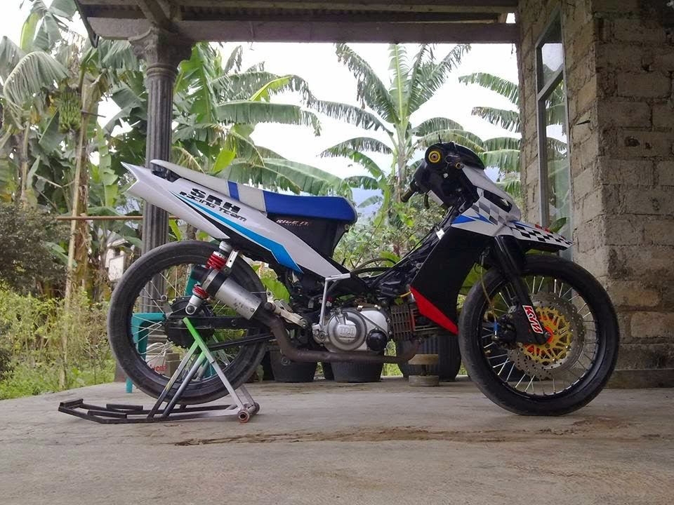modifikasi motor yamaha vega zr racing look