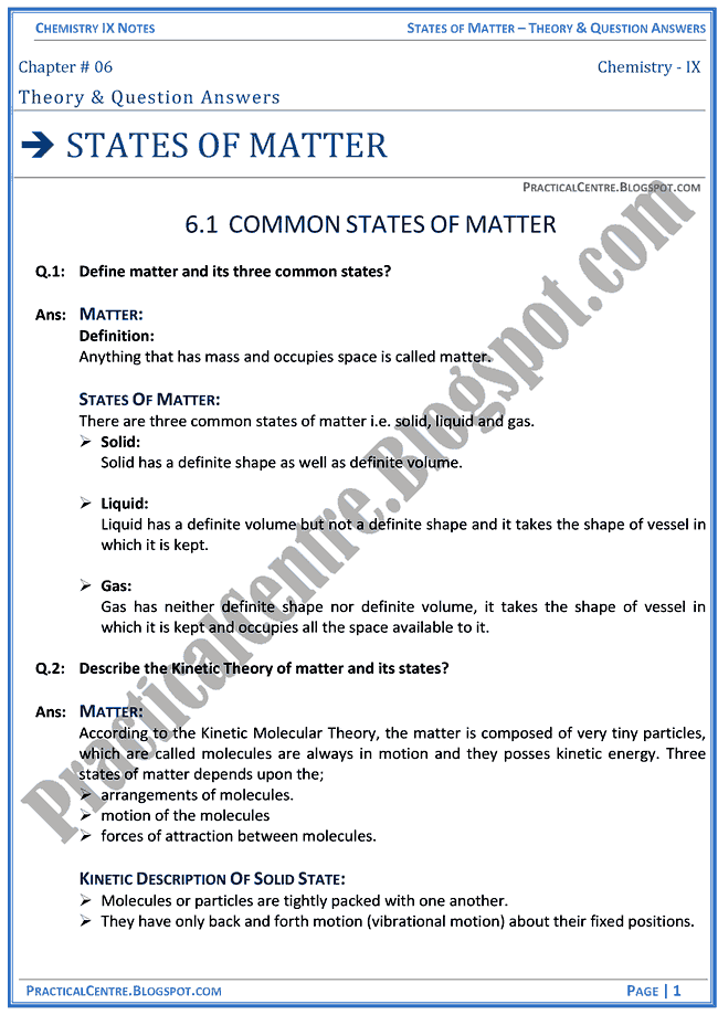states-of-matter-theory-and-question-answers-chemistry-ix