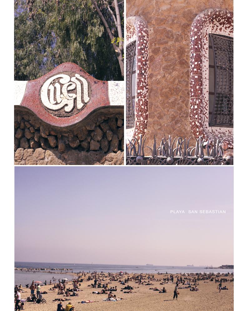 parc Guell plage San Sebastian Barcelone