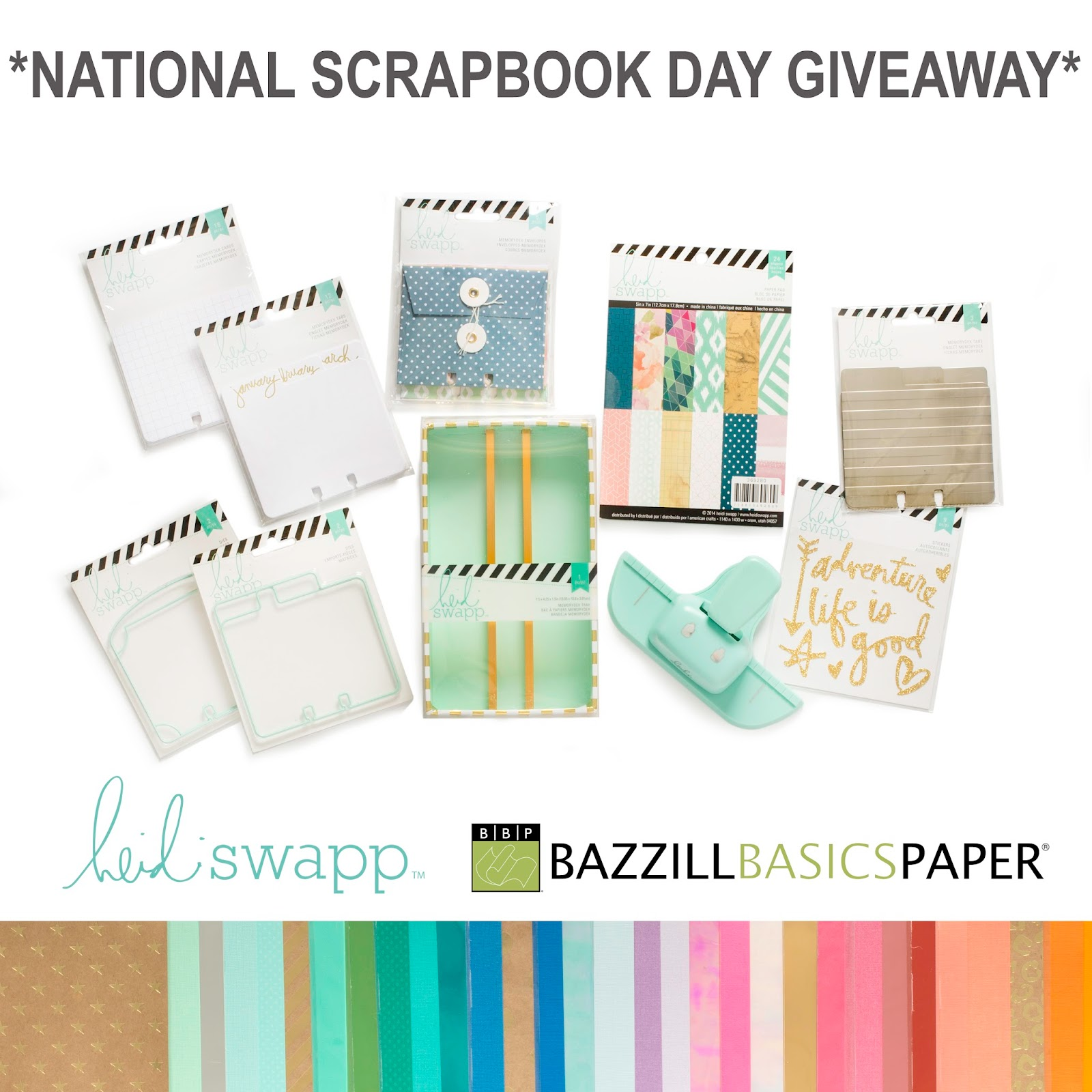 Bazzill Basics Paper (inter)National Scrapbook Day Giveaway #bazzillbasics #giveaway