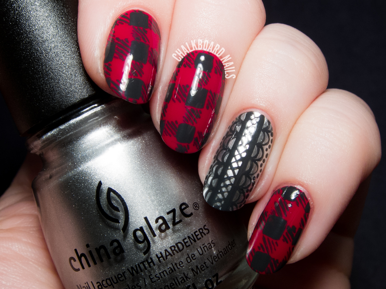 Flannel And Lace China Glaze Twinkle Collection Nail Art