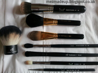 ELF c brush kabuki brush mac 190SE sigma e10 e25 e40 f82