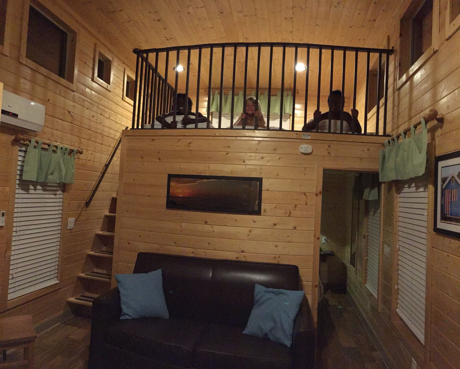The cabin was cute and cozy with two small bedrooms and a loft They all  wanted. Campers With 2 Bedrooms