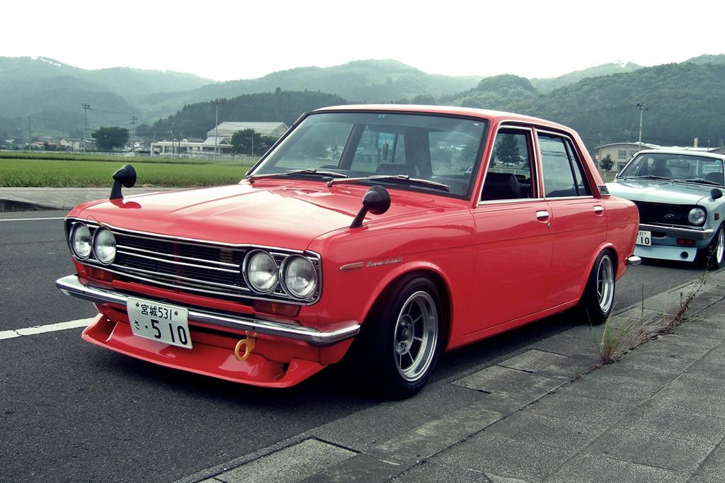 Nissan Bluebird 510 stary japoński samochód, klasyk, oldschool, 日本車, クラシックカー