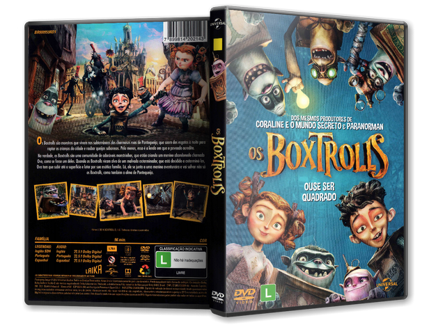 Capa DVD Os Boxtrolls